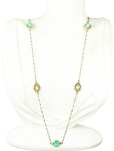 Anna Beck ANNA BECK 18K Gold Plated Sterling Silver Turquoise Triplets Necklace