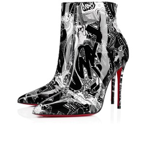 Christian Louboutin Stiletto Silver So Kate Black, White Boots