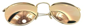 Ray-Ban Ray-Ban Gold Frame | Copp Round Metal | Gold Frame | Copper Flash Lens