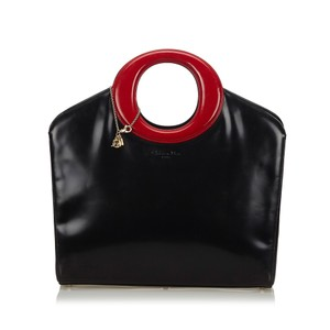 Dior 9fdrhb014 Vintage Patent Leather Shoulder Bag
