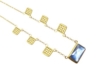 Anna Beck ANNA BECK 18K Gold Plated Sterling Silver Blue MOP Pendant Necklace