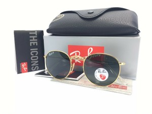 Ray-Ban Ray Ban Round RB3447 112/58 Gold Frame Polarized Green Lens 50mm