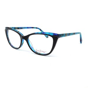 "Lilly Pulitzer Lilly Pulitzer ""Bentley"" Teal Blue Havana Eyeglasses"