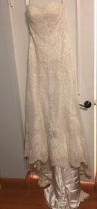 Sottero and Midgley Ivory Lace Viera Feminine Wedding Dress Size 10 (M)
