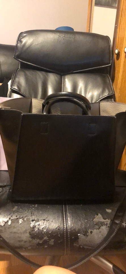 100% top quality the latest new styles Matt & Nat Loyal Dwell Collection Black Vegan Leather Tote 58% off retail