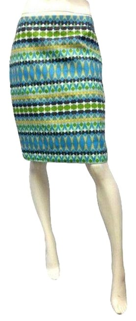 Item - Green Blue Brown Yellow and White Skirt Size 8 (M, 29, 30)