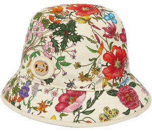 Gucci Gucci Fedora Hat with Flora Print Size Large