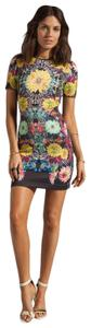 Clover Canyon short dress multi Short Sleeve Electric Daisy Turquoise Valley Neoprene Wetsuit on Tradesy