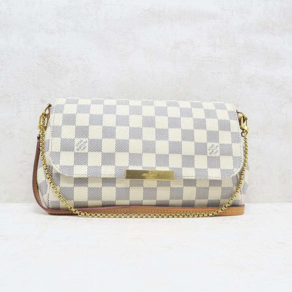 4177e715da939 Louis Vuitton Favorite Mm Damier Azur Canvas Cross Body Bag Image 0 ...