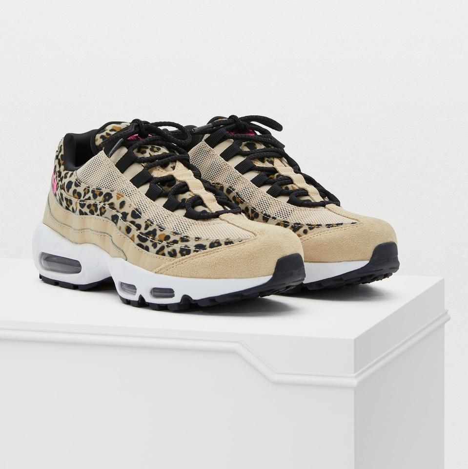 check out 19ce9 4333a Nike Black Airmax 95 Se Leopard Print White Tan Nude Sneakers Size US 8  Regular (M, B)