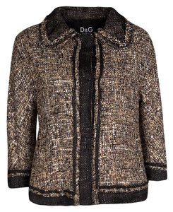 Dolce&Gabbana Textured Brown Jacket
