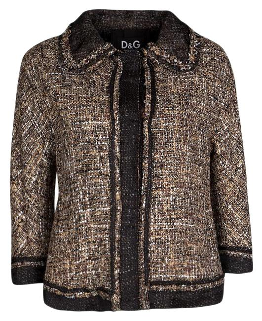 Preload https://img-static.tradesy.com/item/25661646/dolce-and-gabbana-brown-l-and-black-textured-button-front-collared-jacket-size-12-l-0-1-650-650.jpg
