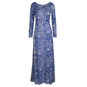 Blue Maxi Dress by Tadashi Shoji Floral Embroidered