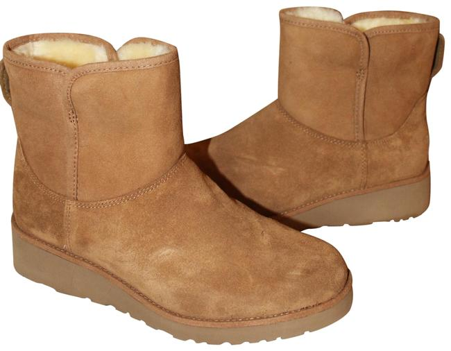 Item - Chestnut Kristin Water Resistant Suede Shearling Boots/Booties Size US 9.5 Regular (M, B)