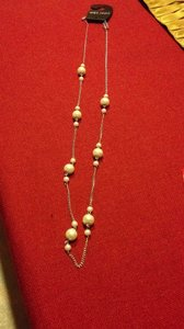 Wet Seal Elegant Spaced Pearl And Chain Necklace