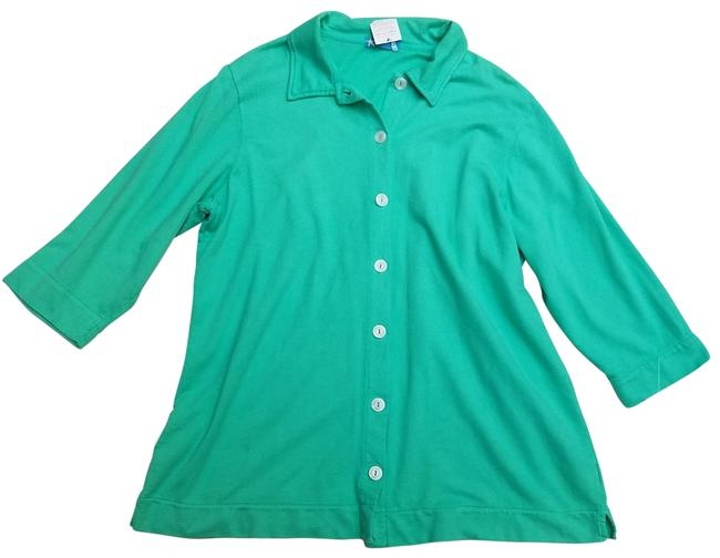 Item - Free Shipping... Green Button-down Top Size 20 (Plus 1x)