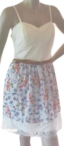 Lily Rose short dress IVORY TOP / PRINT BOTTOM Lace Sheer Adjust Straps Built-in Bra on Tradesy