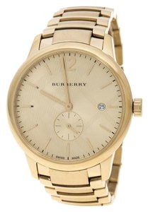 Burberry Steel BU10006 The Classic Round Gold Mantel Women's Wristwatch 40 mm