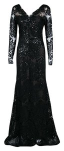 Black Maxi Dress by Marchesa Notte Detail Embroidered Embellished