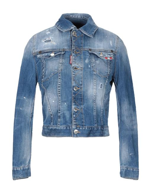 Dsquared2 Italian Designer Blue Denim Womens Jean Jacket Image 2