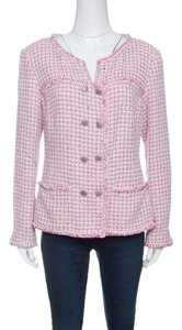 Chanel Textured Cotton Rayon Pink Jacket