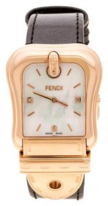 Fendi White Mother of Pearl Rose Gold Plated 3800G Women's Wristwatch 33 mm