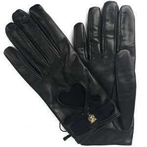 Gucci NEW GUCCI 477970 Leather Heart and Bow Gloves Sz. 8 1/2 L