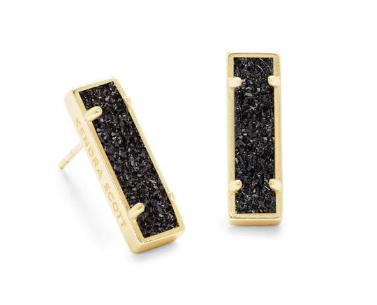 Preload https://img-static.tradesy.com/item/25662939/kendra-scott-black-drusygold-lady-earrings-0-0-540-540.jpg