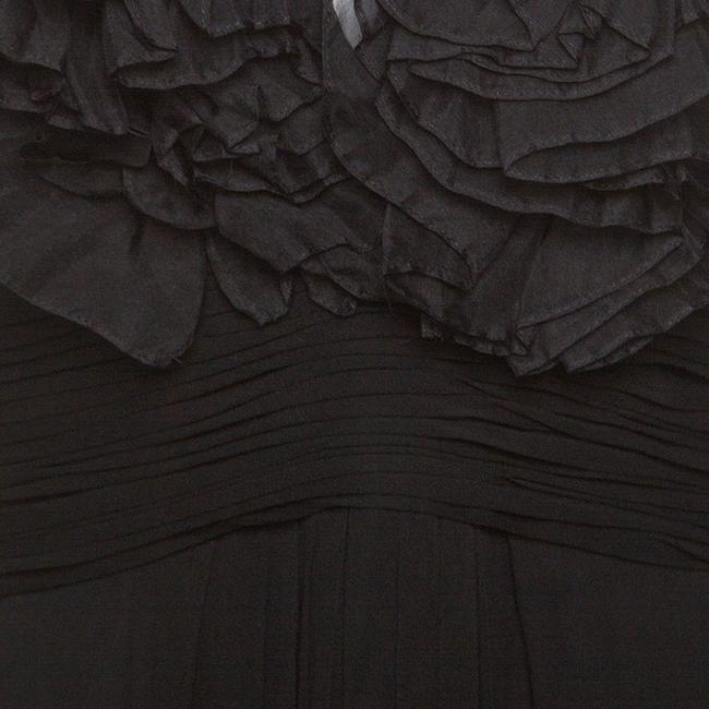 Black Maxi Dress by Marchesa Notte Chiffon Ruffle Detail Image 3
