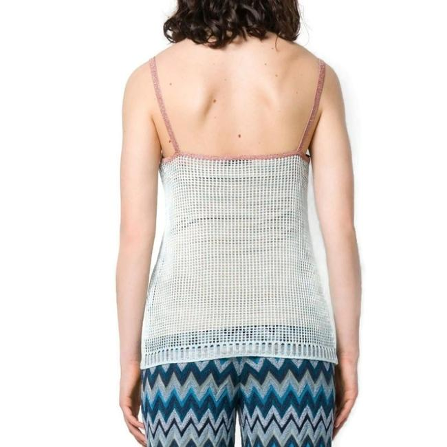 Missoni Top Blue and Rose Gold Image 2