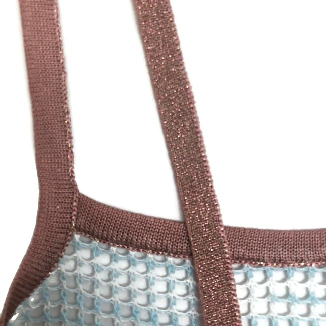 Missoni Top Blue and Rose Gold Image 5
