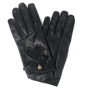 Gucci NEW GUCCI 477970 Leather Heart and Bow Gloves Sz. 8, L
