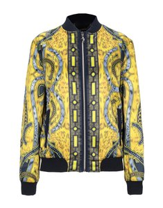 Versace Jeans Collection Designer Italian Bomber Yellow Multicolor Jacket
