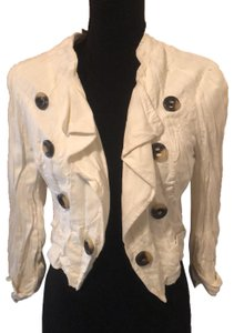 XOXO Ivory with brown buttons Blazer