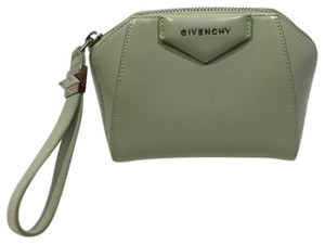 60d4e81024f5b Givenchy Leather Clutch Wristlet in Mint Green