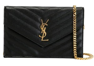 Saint Laurent Ysl Chain Quilted Cross Body Bag