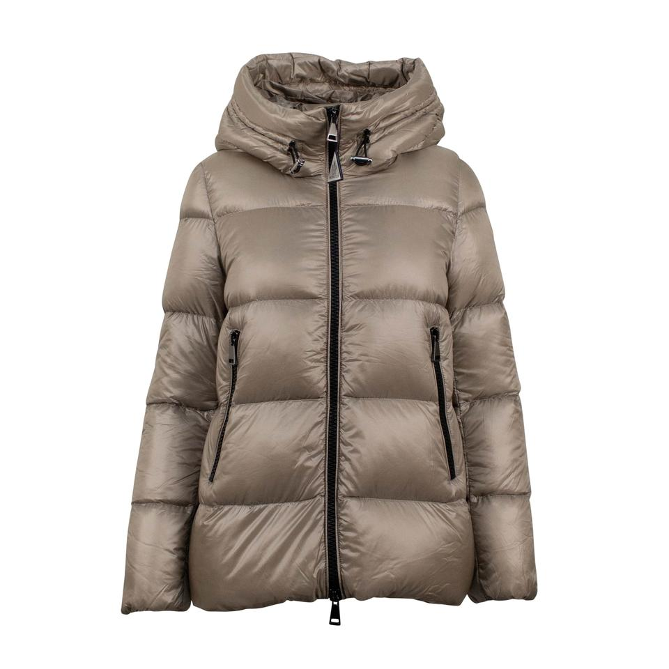 07694f44e Moncler Tan 'seritte' Down Filled Quilted Puffer Coat Size 12 (L)