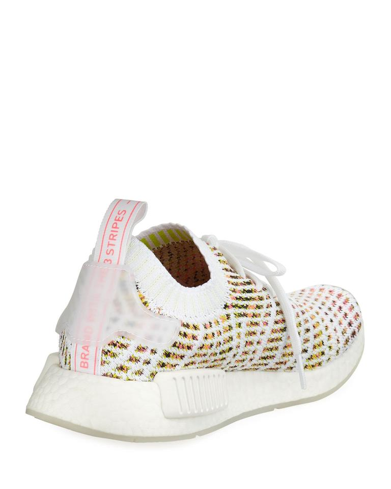 new styles d77f3 4ba15 adidas White/Yellow/Pink Nmd R1 Primeknit Sneakers Size US 8 Regular (M, B)  6% off retail
