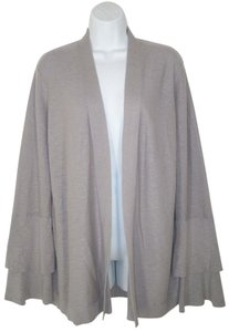 J.Crew Cotton Tiered Flare Sleeves Ruffled Open Front Cardigan