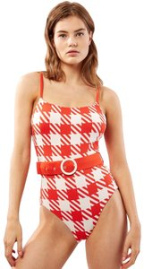 Solid & Striped The Belted Nina - Lipstick Gingham