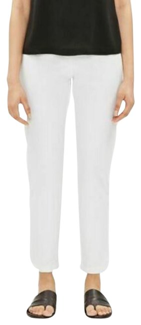 Item - White L New Slim Ankle Organic Cotton Pants Size 12 (L, 32, 33)