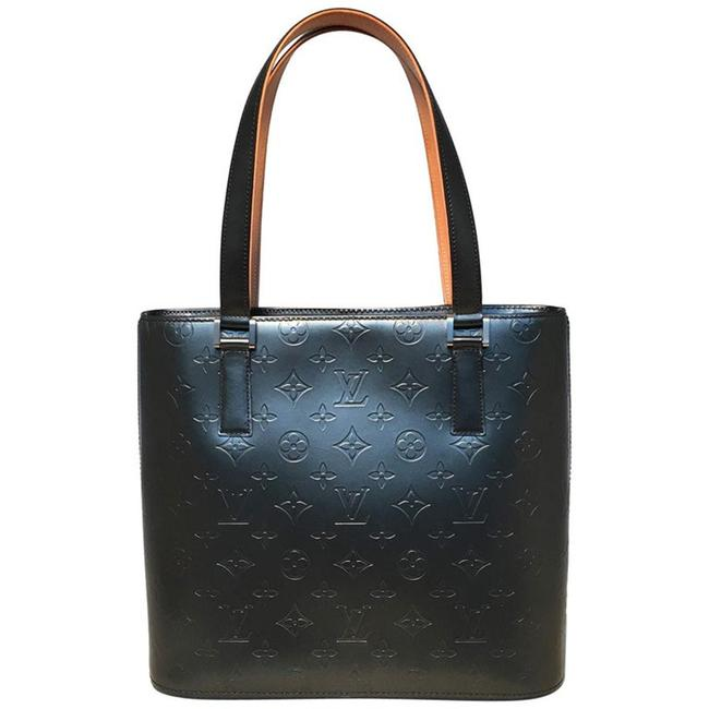 Item - Houston Matte Grey Monogram Vernis Leather Shoulder Bag
