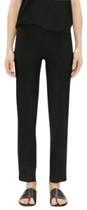 Eileen Fisher Organic Cotton Slim Ankle Relaxed Pants black