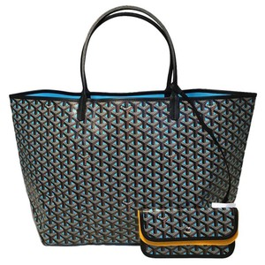 Goyard St Louis St Louis Monogram Limited Edition Tote in blue