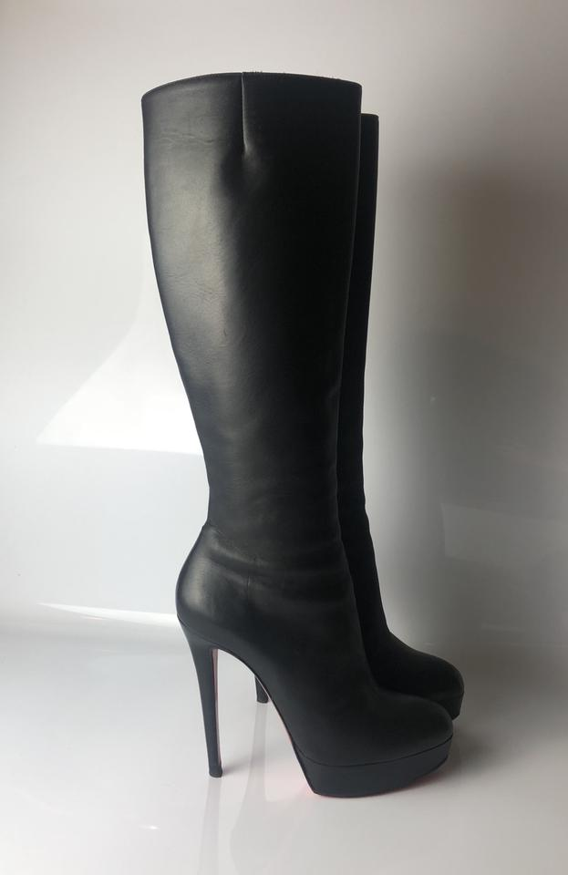 quality design 18a56 559c5 Christian Louboutin Black Botalili 120 Calf Leather Boots/Booties Size EU  36.5 (Approx. US 6.5) Regular (M, B) 53% off retail