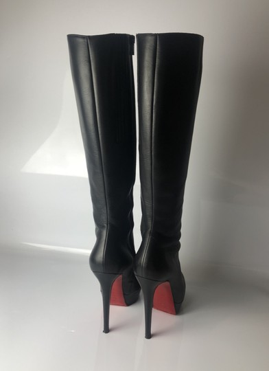 quality design 19d44 41a9d Christian Louboutin Black Botalili 120 Calf Leather Boots/Booties Size EU  36.5 (Approx. US 6.5) Regular (M, B) 53% off retail