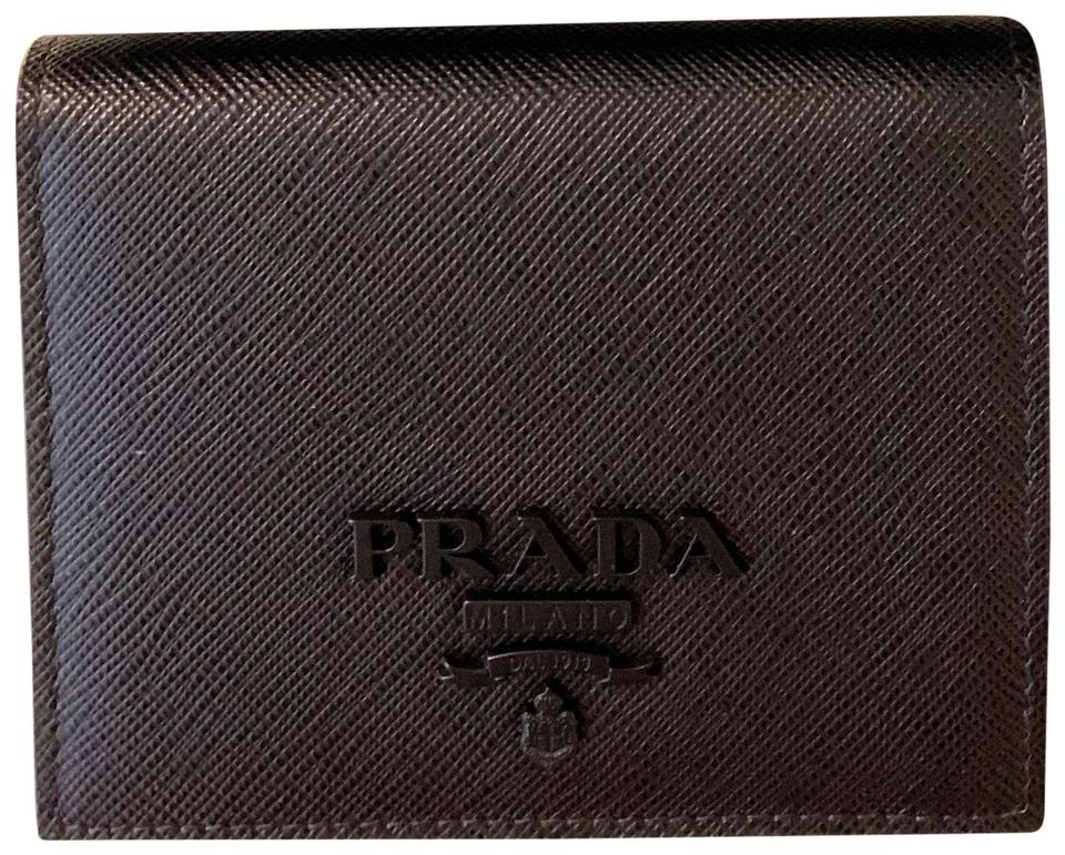 615d736a68 Prada Black Small Saffiano Leather 1mv1204 Wallet 22% off retail