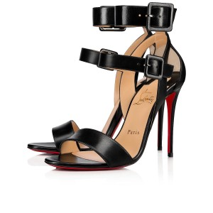 Christian Louboutin Ankle Strap Wedding Black Sandals