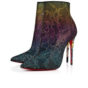 Christian Louboutin Ankle Heels Lace Gipsy Multi Boots