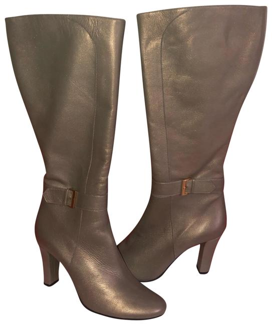 Item - Opalescent Taupe Shrilling Leather Knee High Boots/Booties Size EU 39 (Approx. US 9) Regular (M, B)